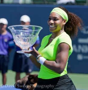 Serena at the award ceremony (3 of 3)