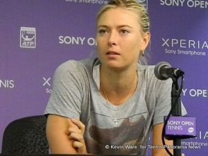 Maria Sharapova with media