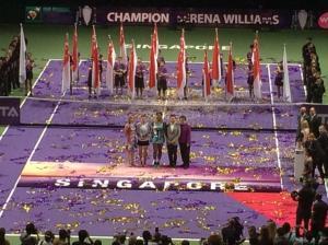 Singapore trophy presentation