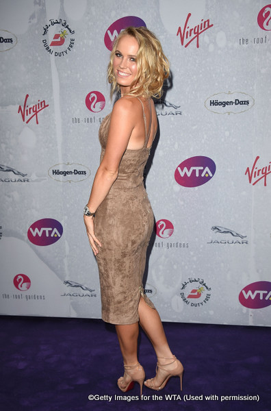 LONDON, ENGLAND - JUNE 23:  Caroline Wozniacki attends the annual WTA Pre-Wimbledon Party presented by Dubai Duty Free at the Kensington Roof Gardens on June 23, 2016 in London, England.  (Photo by Stuart C. Wilson/Getty Images for WTA Tour)