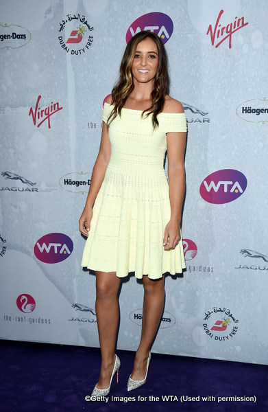 LONDON, ENGLAND - JUNE 23:  Laura Robson attends the annual WTA Pre-Wimbledon Party presented by Dubai Duty Free at the Kensington Roof Gardens on June 23, 2016 in London, England.  (Photo by Stuart C. Wilson/Getty Images for WTA Tour)