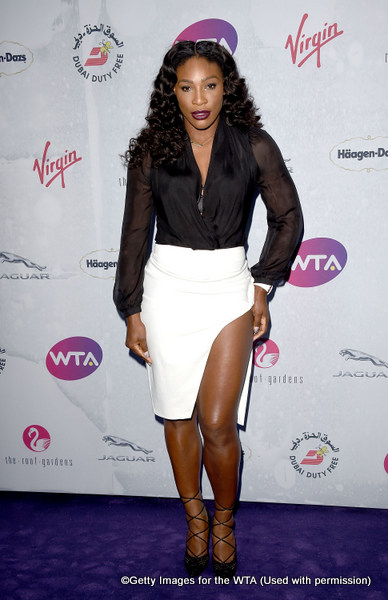 LONDON, ENGLAND - JUNE 23:  Serena Williams attends the annual WTA Pre-Wimbledon Party presented by Dubai Duty Free at the Kensington Roof Gardens on June 23, 2016 in London, England.  (Photo by Stuart C. Wilson/Getty Images for WTA Tour)