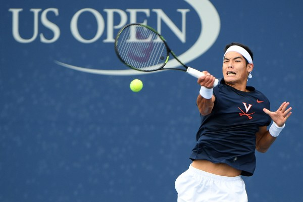 September 9, 2016 - Thai-Son Kwiatkowski in action against Tom Fawcett in a men's collegiate invitational semifinal match during the 2016 US Open at the USTA Billie Jean King National Tennis Center in Flushing, NY.