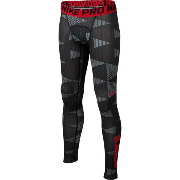 Nike Pro Lebron Compression Boy' Pant Black Red