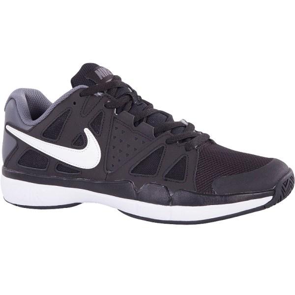 Nike Air Vapor Advantage Junior Tennis Shoe Black Grey White
