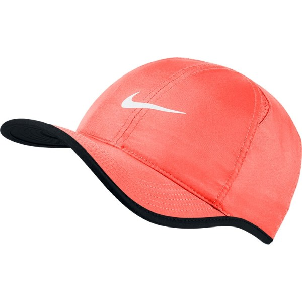 Nike Featherlight Men' Tennis Hat Mango Black White
