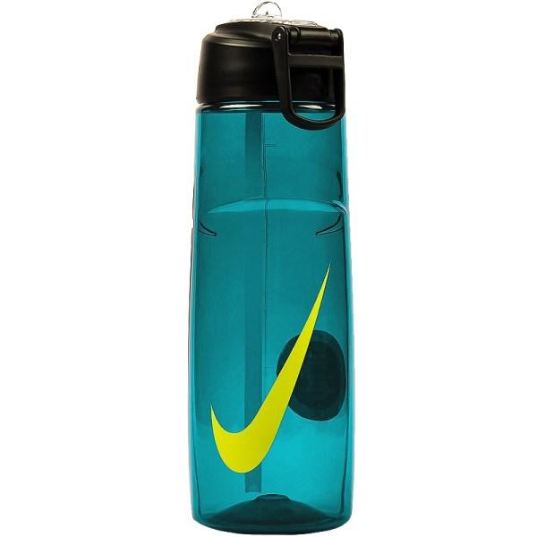 Nike Flow Swoosh Water Bottle 24oz Teal Volt