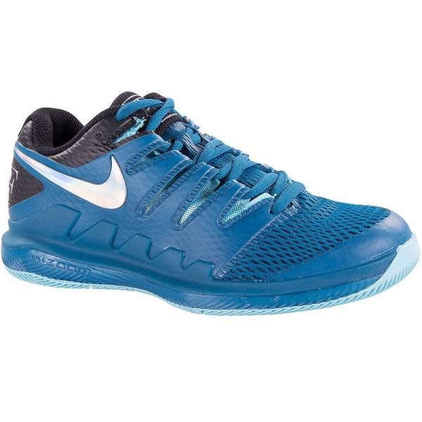 Nike Air Zoom Vapor X Junior Tennis Shoe Green Aqua
