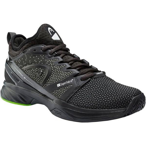 Head Sprint Superfabric Men' Tennis Shoe Black
