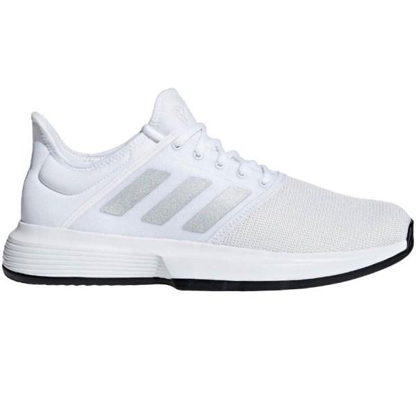 Adidas Gamecourt Men' Tennis Shoe White Silver