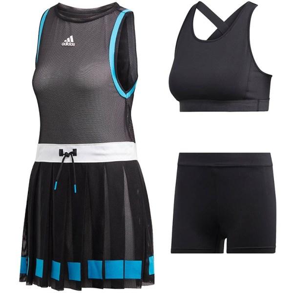 Adidas Escouade Women' Tennis Dress Black White