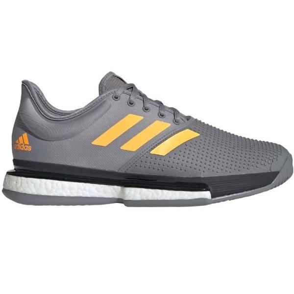 Adidas Solecourt Boost Men' Tennis Shoe Grey Orange