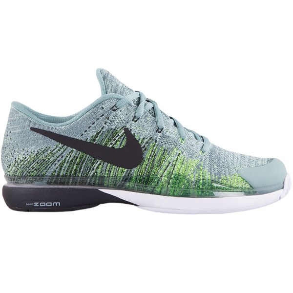 Nike Zoom Vapor Flyknit Men' Tennis Shoe Green Black
