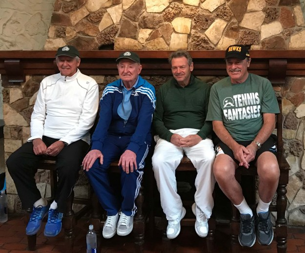Roy Emerson, Rod Laver, Terry Kahn, John Newcombe