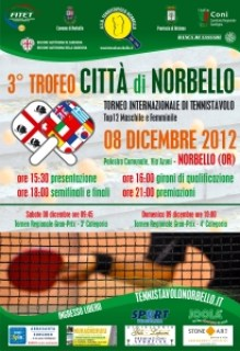 Locandina 3° Trofeo Città di Norbello - 08-12-2012