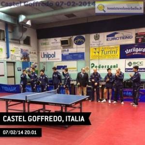 La presentazione delle squadre al Palatennistavolo di Castel Goffredo