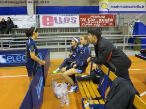 Norbellissime in panchina a Cortamaggiore col tecnico Mauro Locci