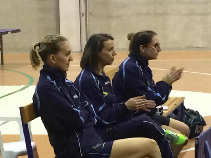 Stefanova, Di Meo e Papadaki assistono al match di Conciauro