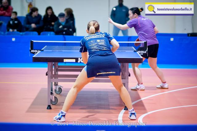 Stefanova e Wang Yu nella sfida in regular season (Foto Mirko Pusceddu)