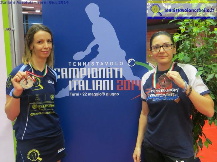Marialucia Di Meo mostra il bronzo assieme ad Ana Brzan