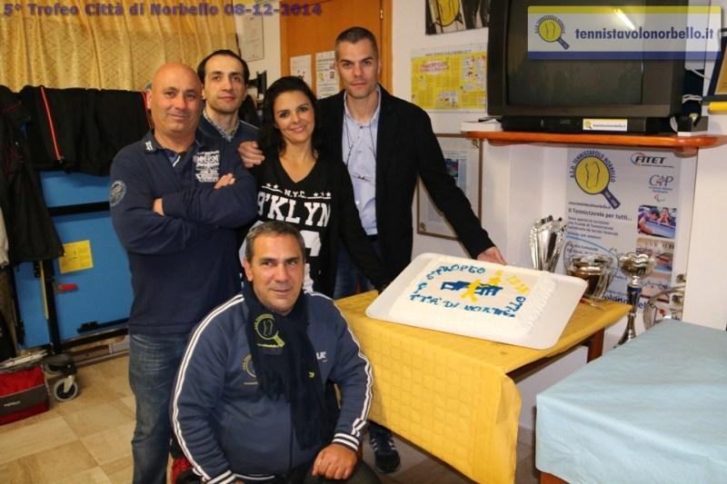 I dirigenti del Tennistavolo Norbello (Foto Gianluca Piu)