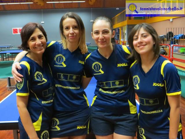 La squadra al completo del Tennistavolo Norbello