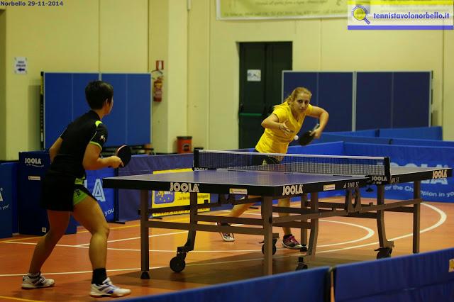 Papadaki e Mosconi nel match d'andata (Foto Gianluca Piu)