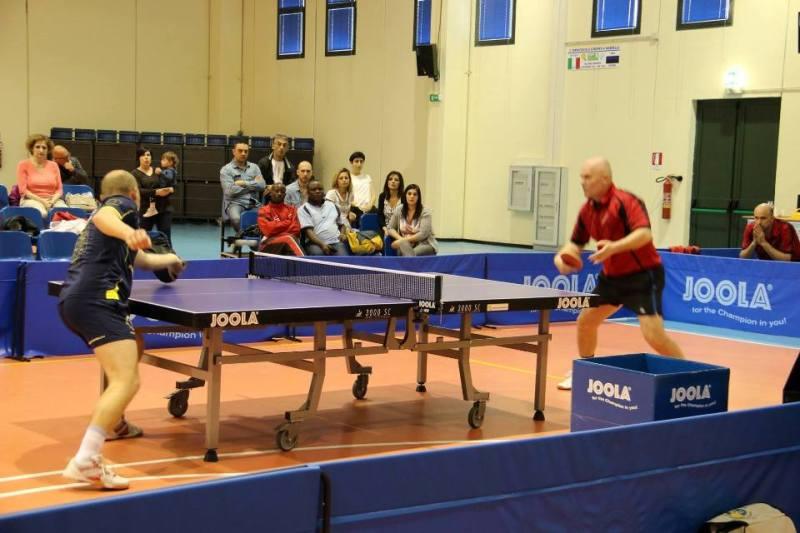 Il match iniziale tra Kuznetsov e Kute (Foto Gianluca Piu)
