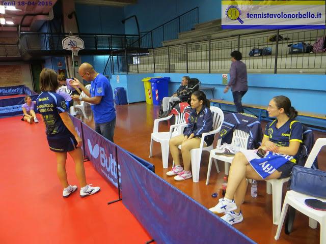 La panchina del Tennistavolo Norbello con Provas Mondal