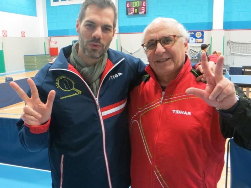 Simone Carrucciu con il presidente del Parma Giuseppe Nuzzi