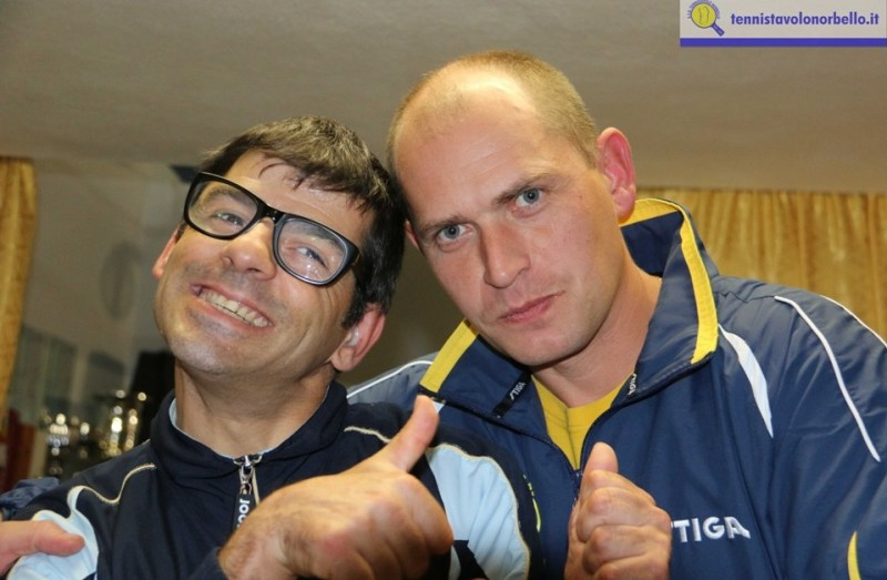 a dx Maxim Kuznetsov con Mauro Mereu (Foto Gianluca Piu)