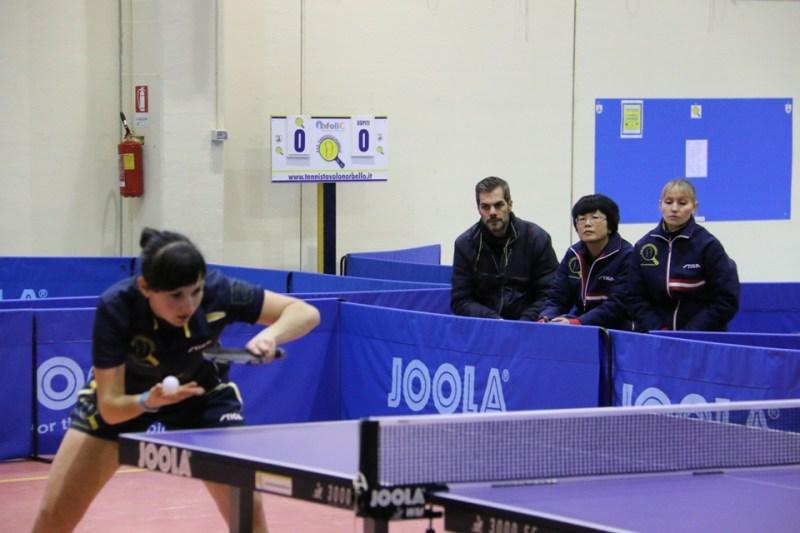 Il team femminile  durante la gara (Foto Gianluca Piu)
