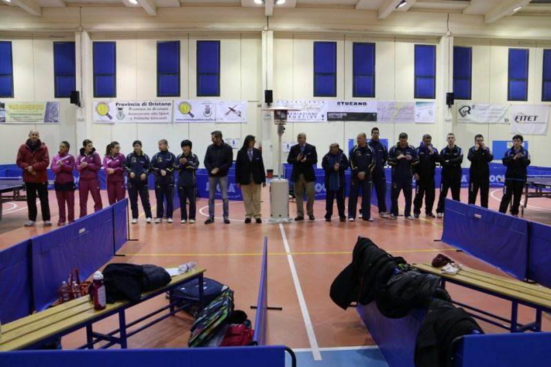 La presentazione delle squadre (Foto Gianluca Piu)