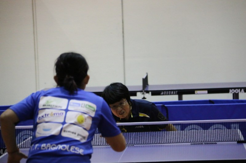 Una concentratissima Wei Jian (Foto Gianluca Piu)