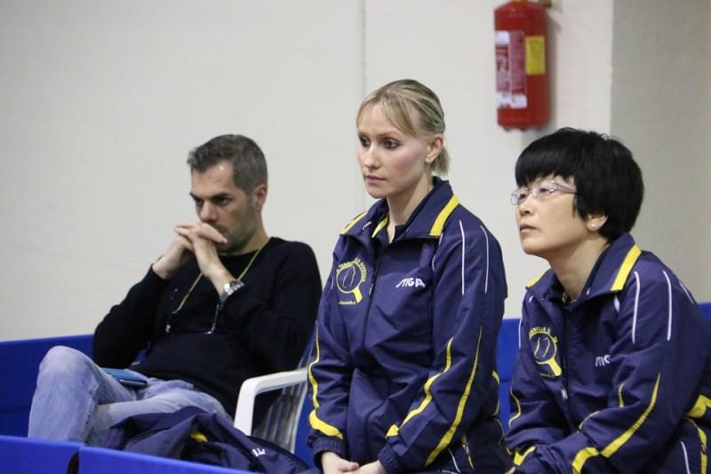 Simone Carrucciu con Bàghina e Wei Jian (Foto Gianluca Piu)