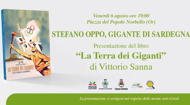"""A Norbello la presentazione del libro """"La Terra dei Giganti"""" con l'autore Vittorio Sanna e il super ospite Stefano Oppo, Campione Olimpico Tokyo 2020"""