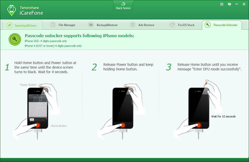 Tenorshare iPhone Pro manual  iPhone Unlock Cdigo