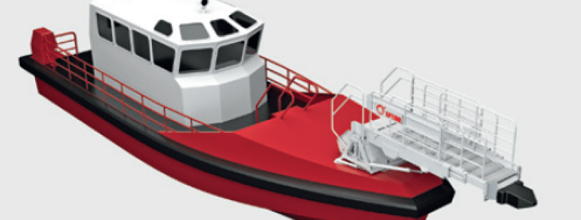 Uptime Motion Compensated Gangway illustration used on an vessel