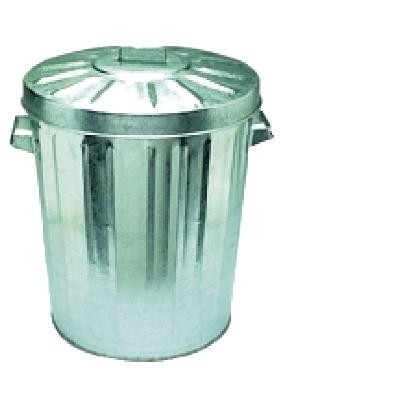 Oates Galvanised Rubbish Bin 76L  BINS GALVANISED BINS