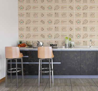 kitchen vinyl delta faucet hose replacement 乙烯基的瓷砖贴纸在厨房墙贴 tenstickers 厨房用品边框贴纸