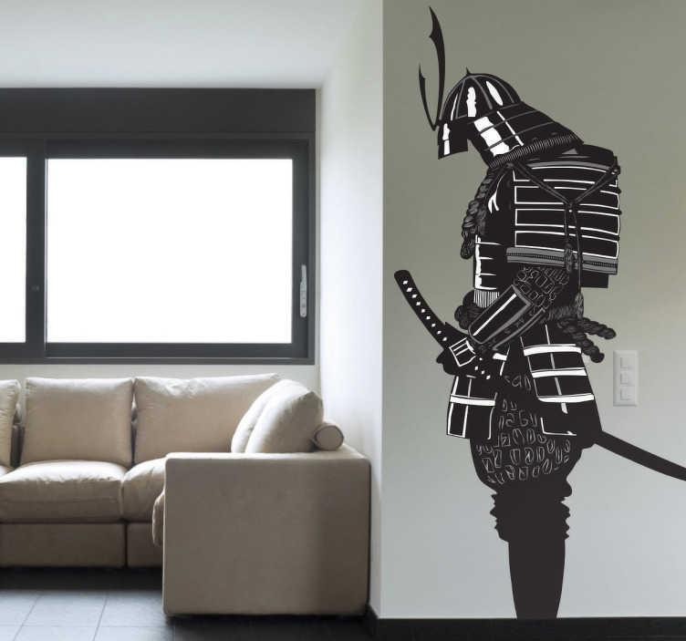 kitchen spatula discount cabinet hardware samurai warrior sticker - tenstickers