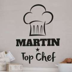 Pictures For Kitchen Wall Island Cart Stickers And Decor Tenstickers Chefs Hat Sticker