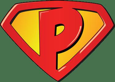Sticker Super Héros Lettre P TenStickers