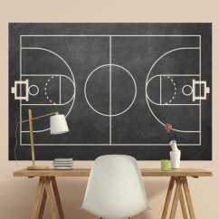 Large Living Room Wall Mirrors Blue And White Decorating Ideas Basketball Court Chalkboard Sticker - Tenstickers