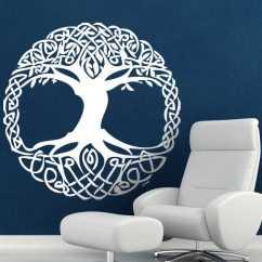 Living Room Decorating Ideas Uk Arrange With Tv Celtic Tree Wall Sticker - Tenstickers