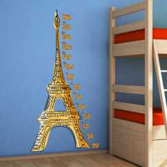 Modern Living Room Mirrors Uk Leather Swivel Chairs For Eiffel Tower Height Chart Decal - Tenstickers