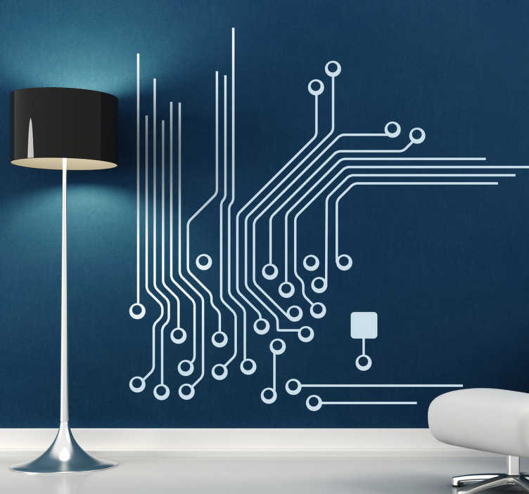 designer mirrors for living rooms wall lights room electronic plate connections sticker - tenstickers
