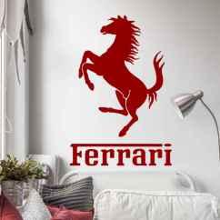 Designer Mirrors For Living Rooms Log Burner Room Decor Ferrari Horse Sticker - Tenstickers