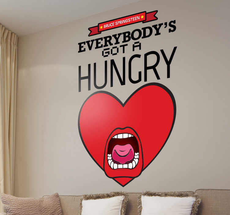 big living room mirrors decor with dark brown couch hungry heart sticker - tenstickers