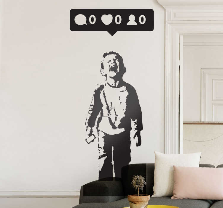 large living room wall mirrors small with hardwood floors nobody likes me banksy decal - tenstickers